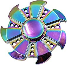 Rainbow Alloy finger gyro colorful fidget spinner Zinc Alloy decompression Relieve stress toy Hand Spinne 360 degree rotation