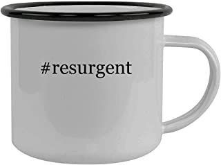 #resurgent - Stainless Steel Hashtag 12oz Camping Mug, Black