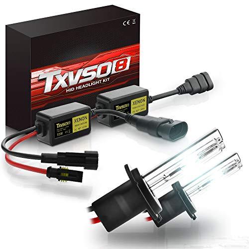 TXVSO Neueste Mini 12 V 55 Watt Xenon HID Conversion Kit Scheinwerfer für Auto Fahrzeug Ersatz Halogenlampe Set, H7 / 12000K Bläulich Lila