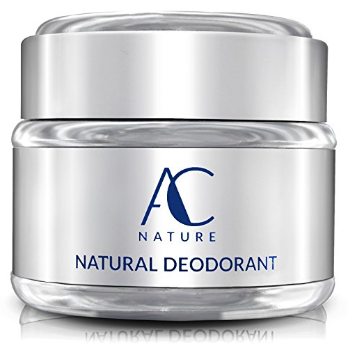 AC NATURE Deodorant Organic and 100% Natural Ingredients Aluminum Free No Fragrances Paraben Free All Day Odor Protection for Women/Men Unscented 2.5 oz.