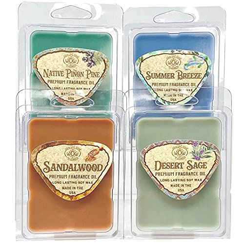 Way Out West Candles Wax Melts-Scented Wax Melts for Wax Warmers - Highly Fragrant Air Freshener - Nature Variety Pack 4 Pack Assorted Set of 6 Melt Cubes - Made in USA