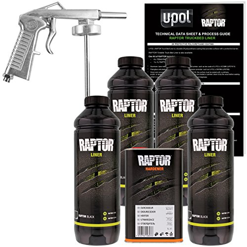 U-POL Raptor Black Urethane Spray-On Bed Liner