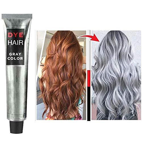 Gel de tinte permanente para el cabello gris ahumado unisex Color de tinte para el cabello Crema para el cabello con tinte súper gris Cabello plateado sofisticado que nutre diferentes tonos
