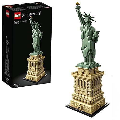 LEGO 21042 Architecture La Statue de la Liberté, Set de Construction à Collectionner, Idée Cadeau - 1685 pièces