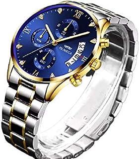 ساعة يد رجالي فاخرة ماركة OLMECA ساعة يد من الفولاذ المقاوم للصدأ مع التاريخ للرجال ساعة رجالية من أجل Relogio Masculino