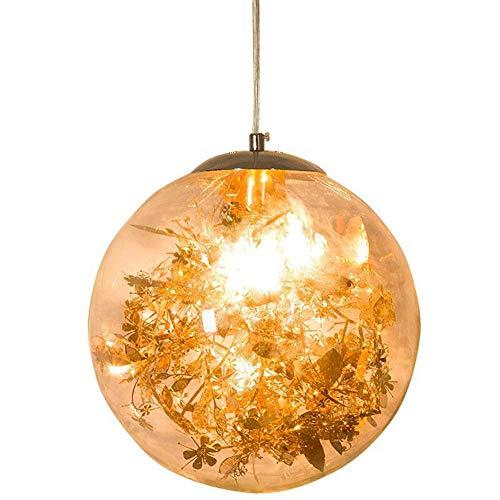 Hanglamp, buitenlamp, E27, LED, glazen bol, minimalistisch, modern, persoonlijkheid, kunst, slaapkamer, restaurant, eettafel, unieke kop, kleine kroonluchter