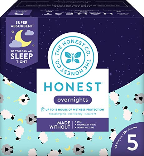 Honest Overnight Baby Diapers, Club Box, Sleepy...