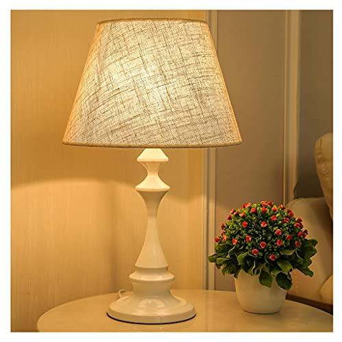Lámpara de escritorio para sala de oficina Lámpara de mesa sencilla de estilo moderno Lámpara de mesita de noche Lámpara de tela Luz de noche Dormitorio Apto para dormitorio estudio Dormitorio E27 Lám