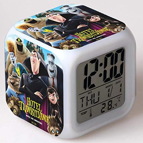Wizard Hostel Alarm Clocks Kids LED Clock Cartoon Night Light Flash 7 Color Changing Digital Clock Electronic Desk Clock,Style 29, Birthday