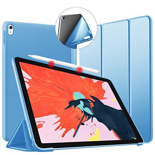 """VAGHVEO Funda para iPad Pro 11"""" 2018, Ultra Delgada Smart Carcasa con Auto-Sueño/Estela Función, Flexible de Goma Suave Cover Soporta Cargar iPad Pencil para Apple iPad Pro 11 Pulgadas Tableta, Azul"""