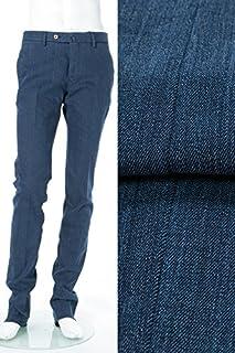 (PT01) ピーティーゼロウーノ パンツ スラックス ブルー メンズ (RIDJ01Z IM45) 【並行輸入品】