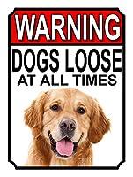 警告犬は常に緩んでいます メタルポスター壁画ショップ看板ショップ看板表示板金属板ブリキ看板情報防水装飾レストラン日本食料品店カフェ旅行用品誕生日新年クリスマスパーティーギフト