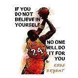 Kobe Bryant 40,6 x 61 cm Wandkunstdruck, inspirierendes