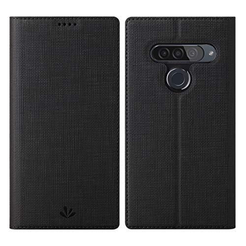 Eastcoo LG G8s ThinQ Hülle,LG G8s ThinQ Wallet Handyhülle PU Leder Flip Hülle Tasche Cover Schutzhülle mit [Standfunktion][Magnetic Closure][Card Slots] für LG G8s ThinQ Smartphone,Schwarz