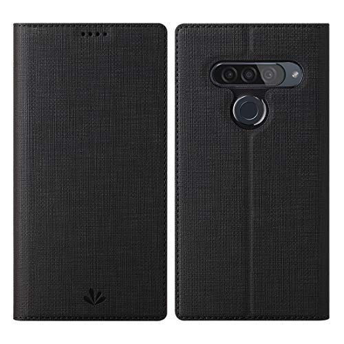 Eastcoo LG G8s ThinQ Hülle,LG G8s ThinQ Wallet Handyhülle PU Leder Flip Case Tasche Cover Schutzhülle mit [Standfunktion][Magnetic Closure][Card Slots] für LG G8s ThinQ Smartphone,Schwarz