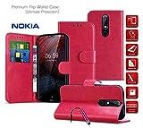 Nokia 6 2018 Case Leather Wallet Case Card Holder Slots