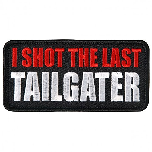 TAILGATER, High Thread Embroidered Iron-On / Saw-On Rayon PATCH - 4