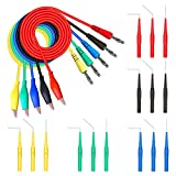 Goupchn Back Probe Kit 20PCS Banana Plug to Copper Alligator Clip Automotive Test Leads Set with 3 Configurations Back Probe Pins for Car Repairing Diagnostic 5 Colors
