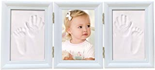 Babyprints Newborn Baby Handprint and Footprint Foldable Photo Frame with Plasticine and White Pine (2)