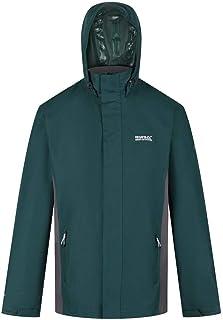 Regatta Men's Matt Waterproof Taped Seams Mesh Lined Concealed Hood Inner Pocket Jacket
