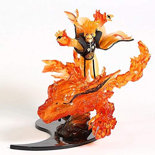 HONGYAN Anime Figura acción Modelo Juguete,Naruto Shippuden Kizuna Kurama Naruto Uzumaki PVC Figura estatuilla Juguete de Modelos coleccionables
