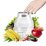 Mini Tritatutto Elettrico Piccolo Robot da Cucina Mixer Mini Frullatore Portatile Multifunzionale per Carne, Verdure,Cipolle e Frutta Tritacarne Ricaricabile USB 3,7 V 100 ml