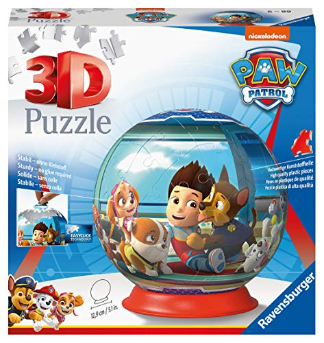 Ravensburger 12186 - Paw Patrol Puzzle 3D Ball