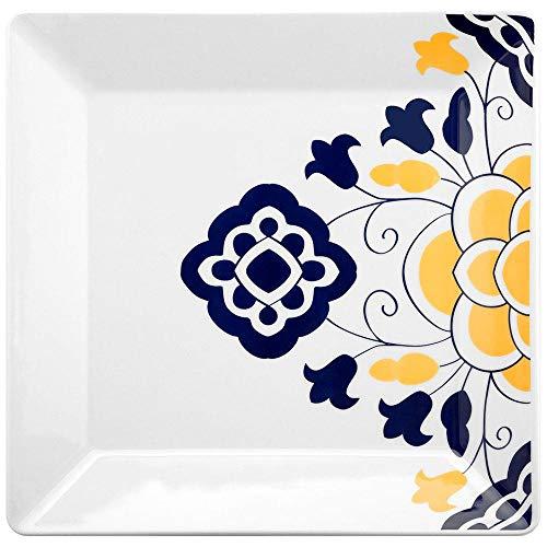 1 Aparelho de Jantar Chá 30 Peças Oxford Porcelanas Quartier Sevilha Multicor