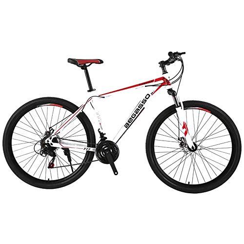 YUANP Bicicleta De Montaña para Hombre De 21 Velocidades Freno De Disco Doble 29 Pulgadas Bicicletas Urbanas Todo Terreno Solo para Adultos,A