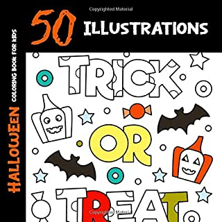 Halloween Coloring Book for Kids: 50 Halloween Illustrations Printed On One Side, Safe For Markers   Fun Craft Activity Gift (Spooky House)