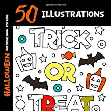 Halloween Coloring Book for Kids: 50 Halloween Illustrations Printed On One Side, Safe For Markers | Fun Craft Activity Gift (Spooky House)