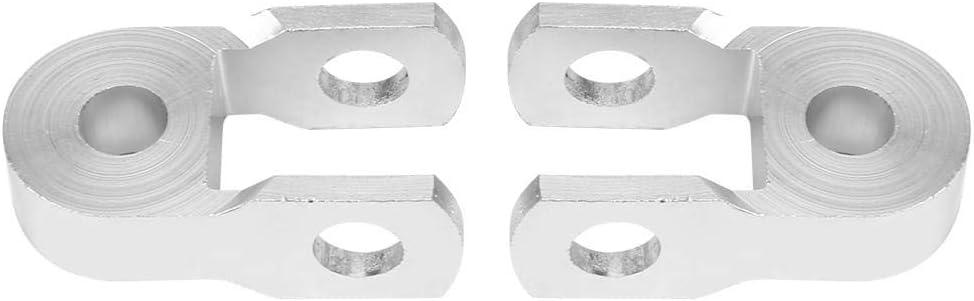Supporto per ammortizzatore No screw 2 pezzi di estensione per altezza del montante per ammortizzatore posteriore universale per moto argento
