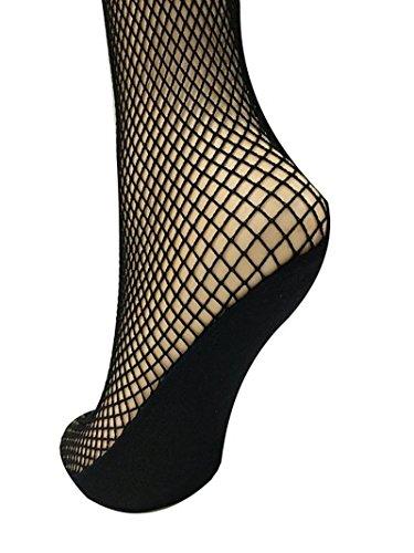 18MM Professionell Fischnetz Strumpfhose Ballett Latin Netzstrumpfhose ohne Naht (Schwarz, M(150cm - 170cm))
