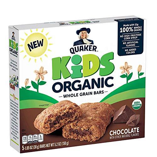 Quaker Kids Organic Multigrain Bars, Chocolate, 40 Bars, USDA Certified Organic