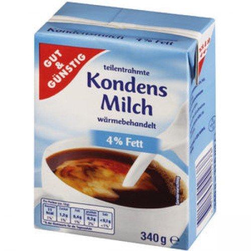 Kondensmilch 4% GUT&GÜNSTIG 340g 20 Stück