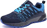 SOLLOMENSI Running Shoes Mens Womens Trainers Lightweight Outdoor Sports Shoes Athletic Gym Fitness Walking Run Jogging Walking Casual Sneakers 9 UK H Blue