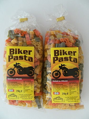 Streuteile Biker aus Nudelteig, 2x 250 g, Nudeln, Motorräder, Pasta, Dekoration, Delikatesse
