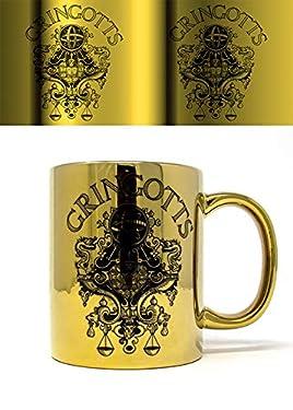 Wizarding World Harry Potter (Gringotts) Metallic Mug, Multi Coloured