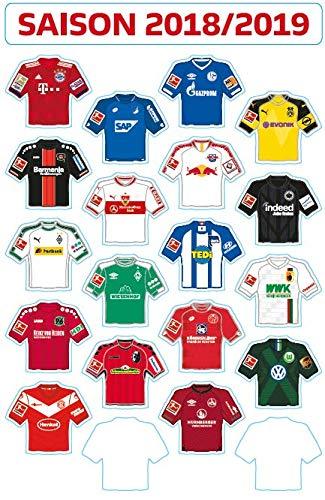 DFL 1. Bundesliga Magnetic Board - Update-Set of The Club Jerseys (Season 2018-2019)