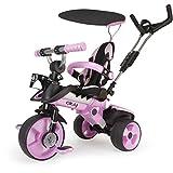 INJUSA - Triciclo Evolutivo City Color Rosa Recomendado para Niños +6 Meses con...