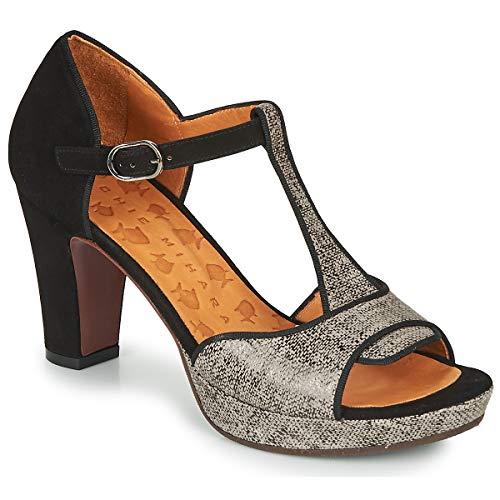 Chie Mihara EMUS Sandalen/Sandaletten Femmes Schwarz/Grau - 40 - Sandalen/Sandaletten