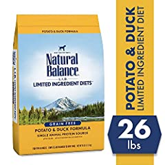 Contains 1 - 26 Pound Bag of Dry Dog Food Limited ingredient diet with a single animal protein source Duck is a high-quality protein that helps maintain strong muscles Natural fiber promotes healthy digestion Grain free recipe with no artificial flav...
