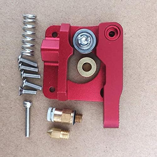 ZHANGYY Actualice MK8 extrusora de aleación de Aluminio Bloque extrusora Bowden 1,75 mm F/CR-7 CR-8 CR-10 CR10 S4 S5 / Anet A8 A6 / Piezas de reparación de Impresora Tevo 3D (Color : Red)