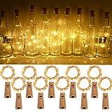 HOPELIT - Luces para botellas de vino en forma de corcho, 10 x 2 m, alambre de cobre para...
