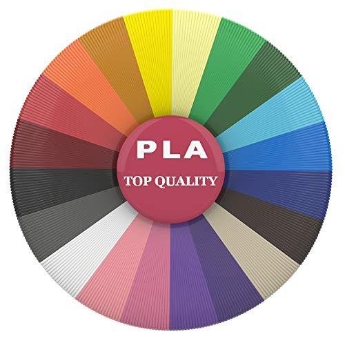 3D Printer Filament, PLA Filament 1.75mm 10 Colors 165 Feet Used for Most 3D Pen, 3D Pen Filament Refills Kids Safe Refill High-Precision Diameter and No Smells