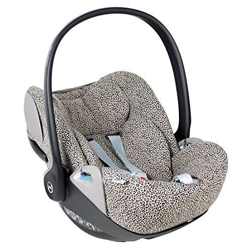 Fundas Para Sillas de Algodón Oeko-Tex para Silla de Coche Cybex Cloud Q Funda Silla Garantiza la Comodidad de la Piel del Bebé y Ayuda a no Sudar