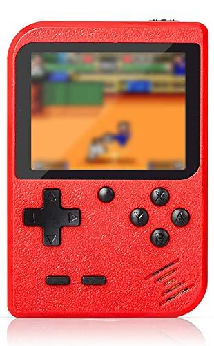 Flybiz Console di Gioco Portatile, Console retrò FC, Console di Gioco Retro LCD Classico da 3,0 Pollici, 400 Giochi Retro FC Game Player Console per Videogiochi con Carica USB per Bambini Amici