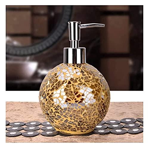 Bottiglia di distributore di sapone con pompa Dispenser liquido Distributore di sapone di vetro Rifinibile Detergente per piatti rifinibile, Accessori per il bagno Shampoo Lozione Bottiglia Lavanderia