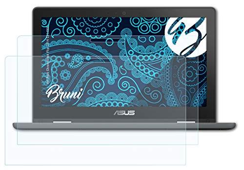 Bruni Schutzfolie kompatibel mit Asus Chromebook Flip C214 C214MA Folie, glasklare Bildschirmschutzfolie (2X)