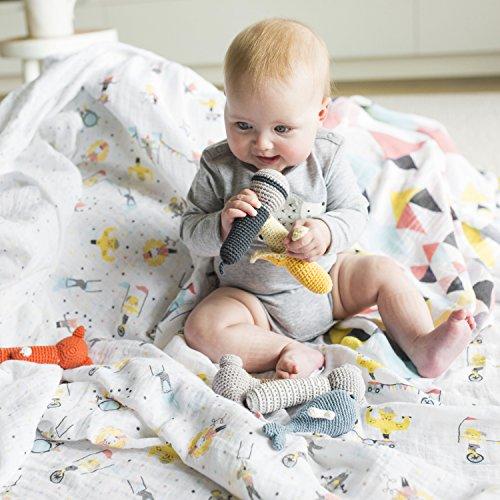 weegoamigo(ウィーゴアミーゴ)ラトル赤ちゃんおもちゃガラガラぬいぐるみ新生児CrochetRattlesFierceFoxキツネ